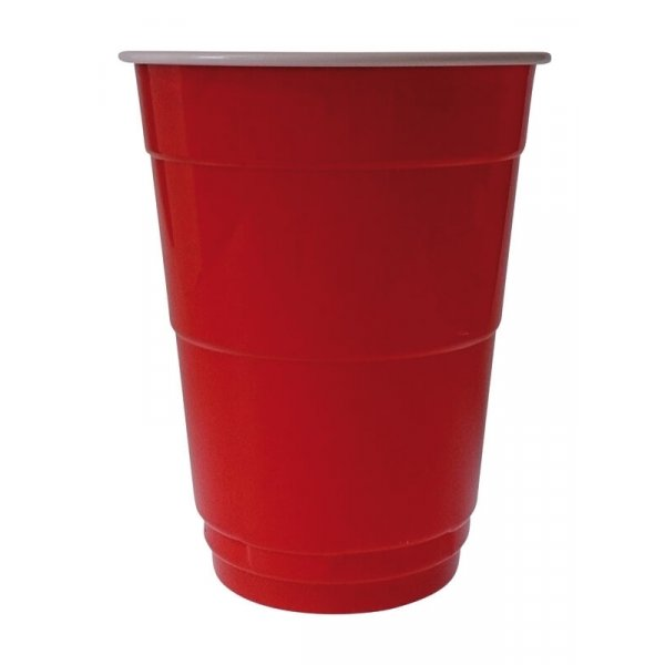Partybecher Red Cup, PS, rot/weiß, 400ml (200 Stk.)